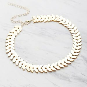 Gold Leaf Shaped Choker